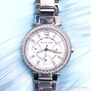 Michael Kors MK Mini Parker Stainless Steel Watch